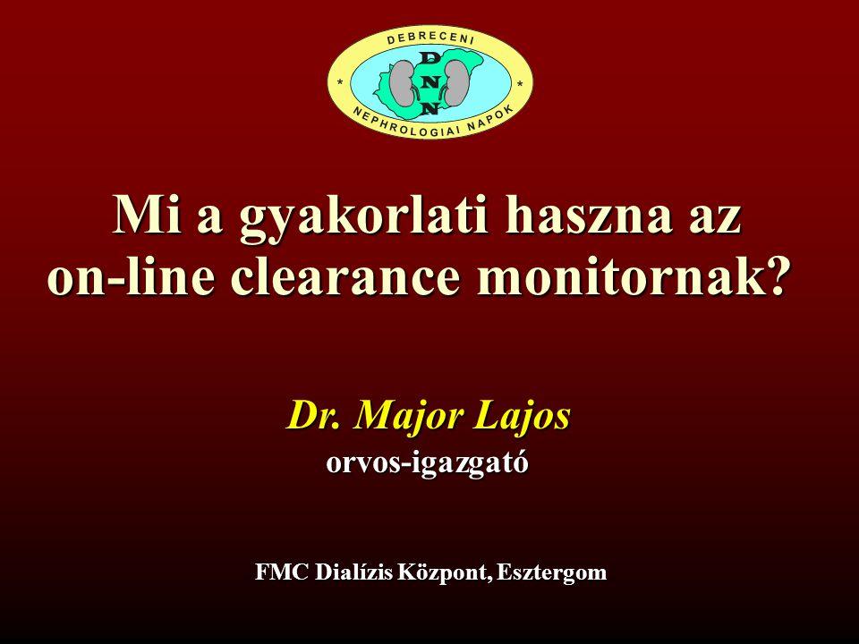Mi a gyakorlati haszna az on-line clearance monitornak