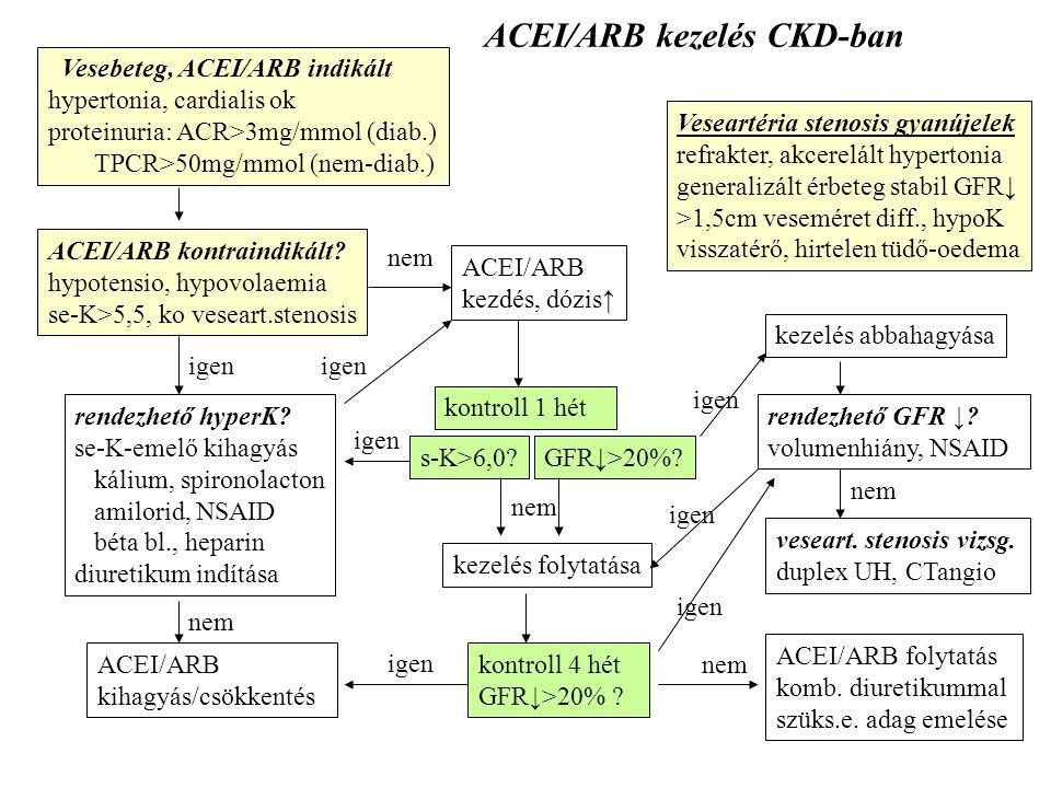 ACEI/ARB kezelés CKD-ban