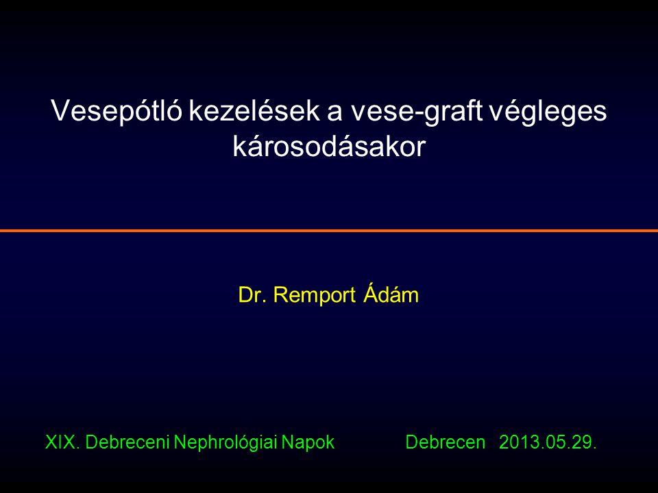 Vesepótló kezelések a vese-graft végleges károsodásakor