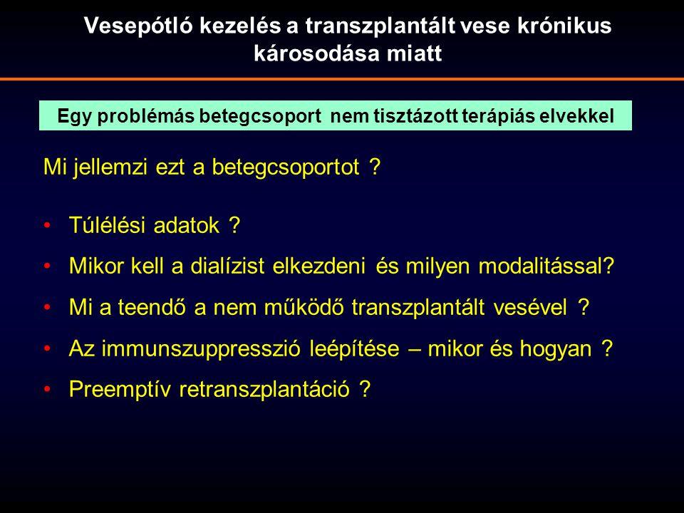 Vesepótló kezelés a transzplantált vese krónikus károsodása miatt