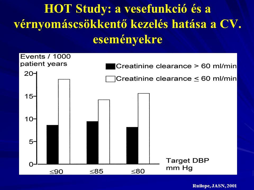 HOT Study: a vesefunkció és a vérnyomáscsökkentő kezelés hatása a CV