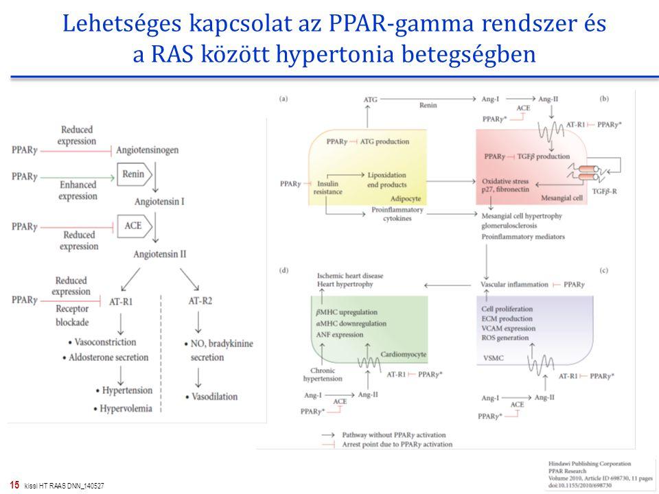 Lehetséges kapcsolat az PPAR-gamma rendszer és