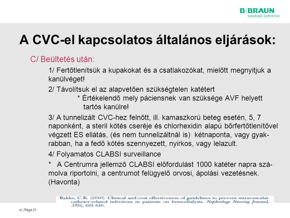 A CVC-el kapcsolatos általános eljárások: