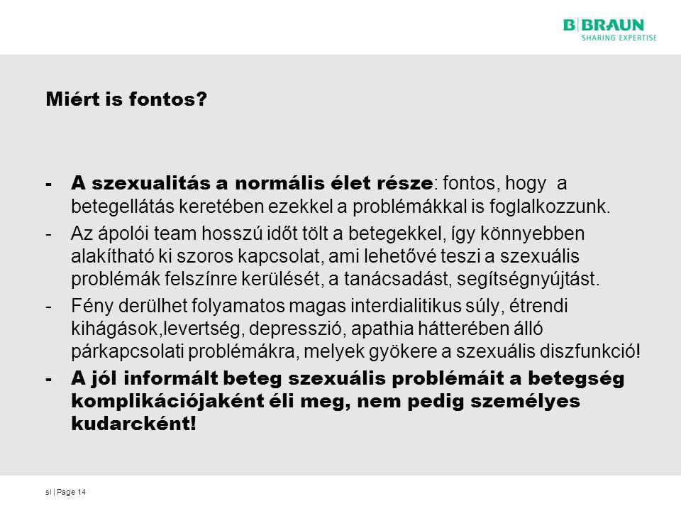 Miért is fontos A szexualitás a normális élet része: fontos, hogy a betegellátás keretében ezekkel a problémákkal is foglalkozzunk.
