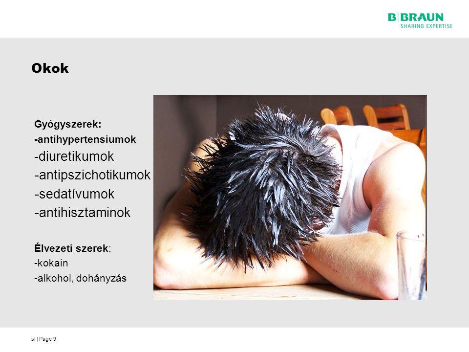 Okok -antipszichotikumok -sedatívumok -antihisztaminok Gyógyszerek: