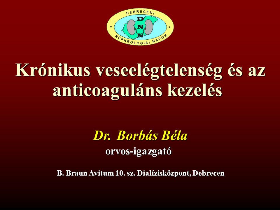 Krónikus veseelégtelenség és az anticoaguláns kezelés