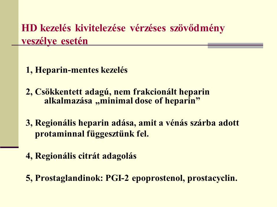 HD kezelés kivitelezése vérzéses szövődmény veszélye esetén