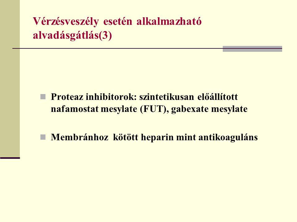 Vérzésveszély esetén alkalmazható alvadásgátlás(3)