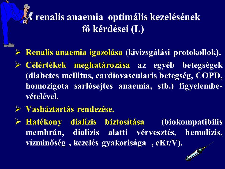 A renalis anaemia optimális kezelésének fő kérdései (I.)
