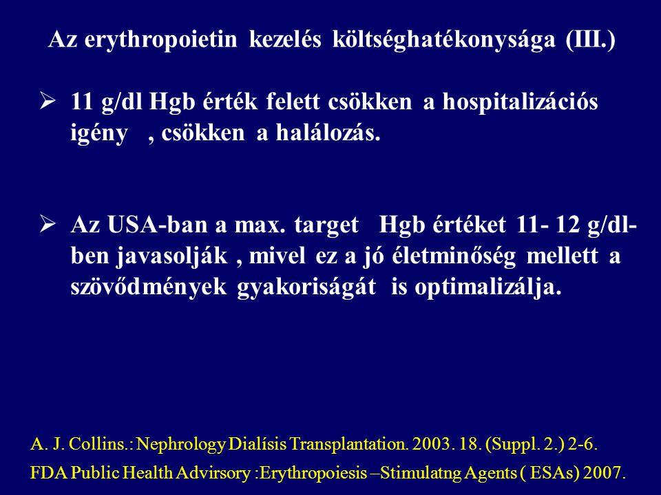 Az erythropoietin kezelés költséghatékonysága (III.)