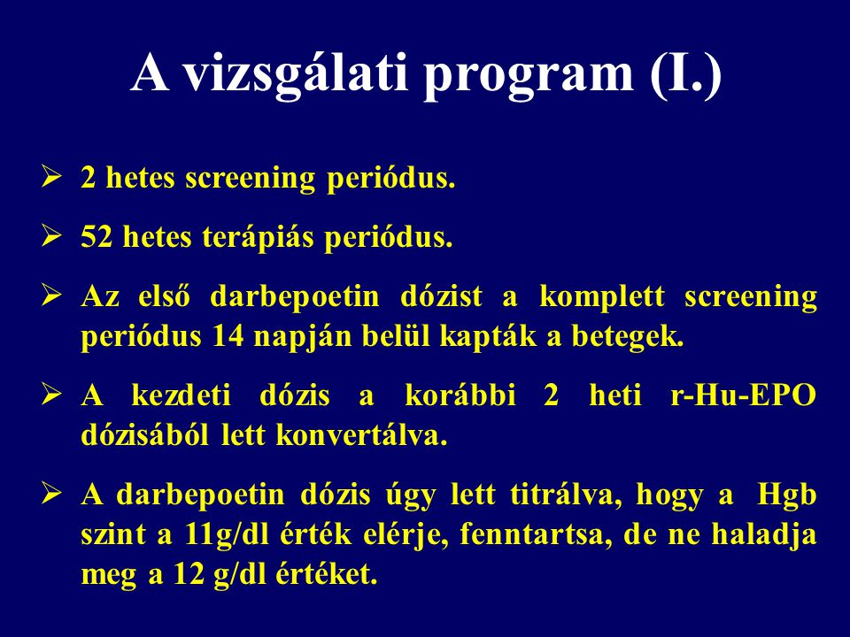 A vizsgálati program (I.)