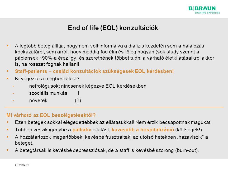 End of life (EOL) konzultációk