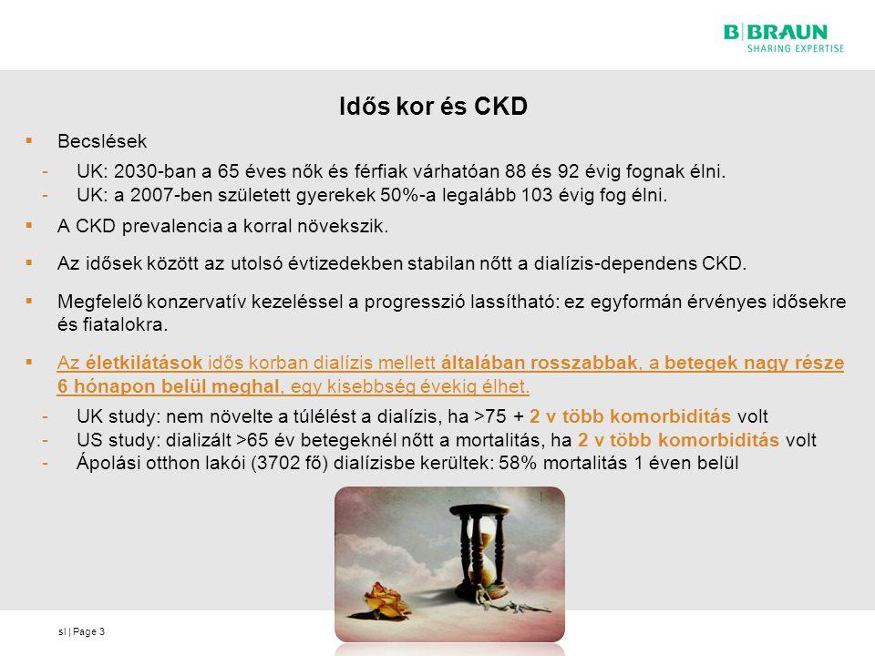Idős kor és CKD Becslések