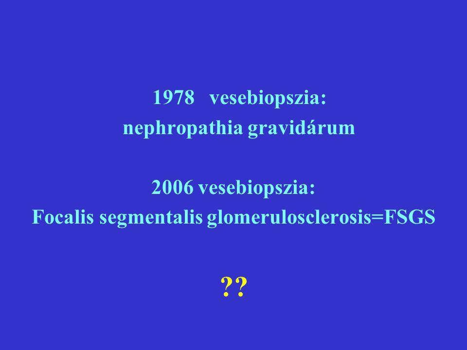 nephropathia gravidárum Focalis segmentalis glomerulosclerosis=FSGS