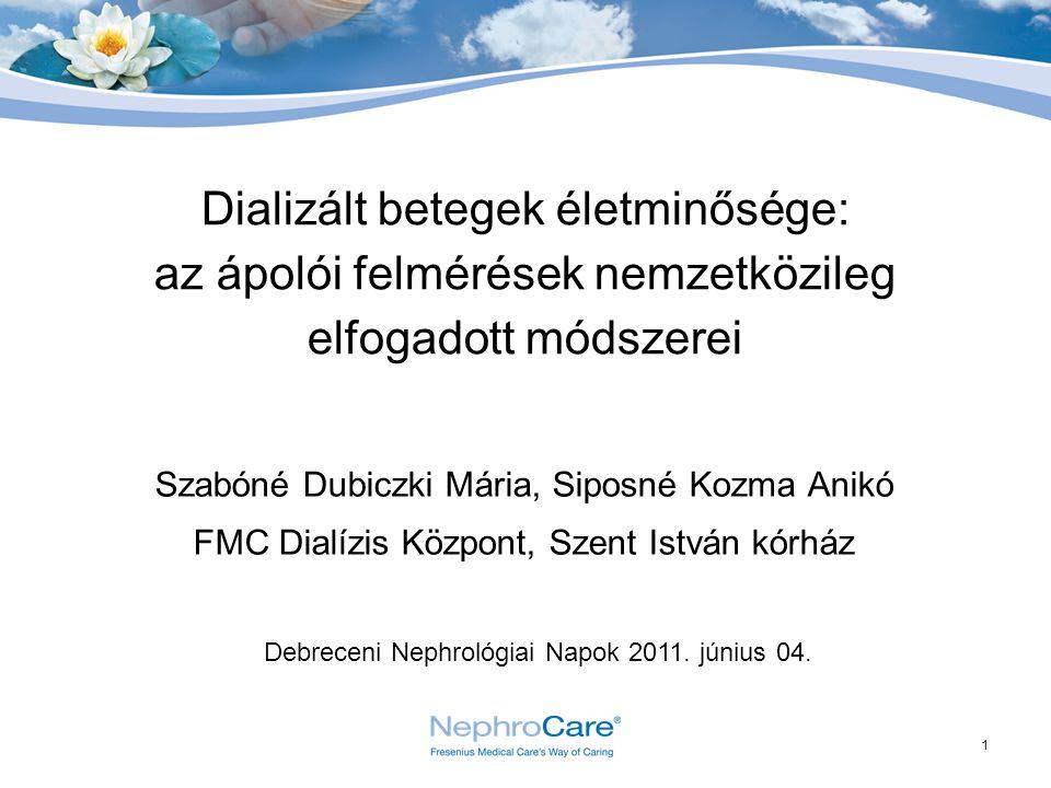 Dializált betegek életminősége: az ápolói felmérések nemzetközileg elfogadott módszerei