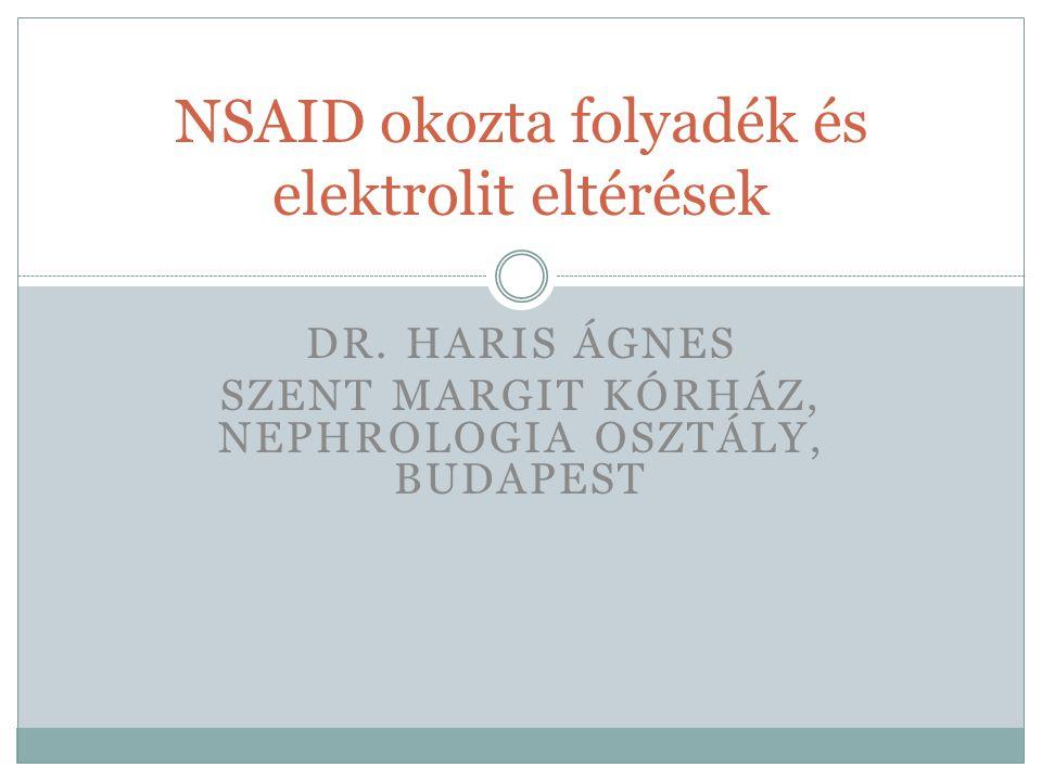 NSAID okozta folyadék és elektrolit eltérések