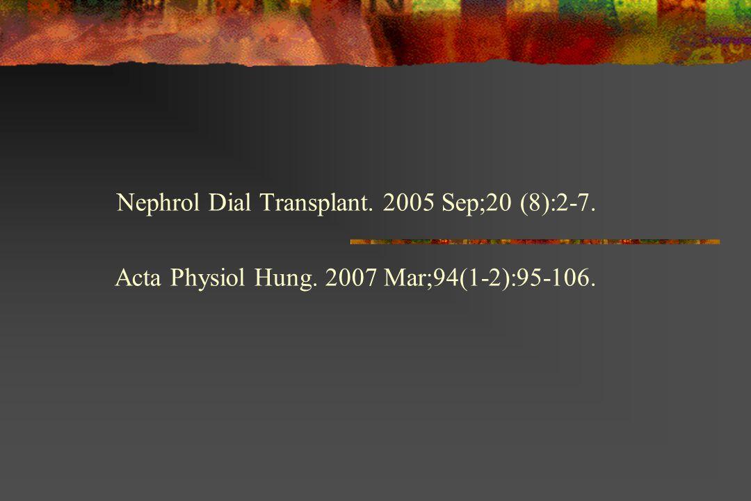 Nephrol Dial Transplant. 2005 Sep;20 (8):2-7.