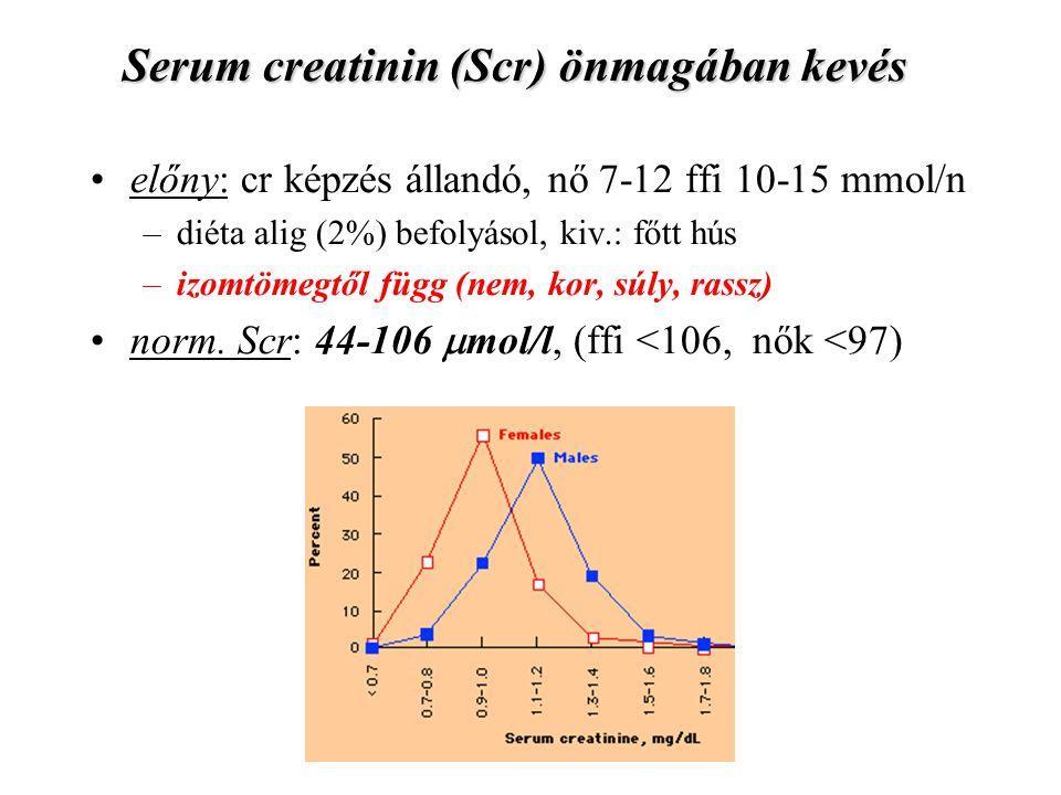 Serum creatinin (Scr) önmagában kevés