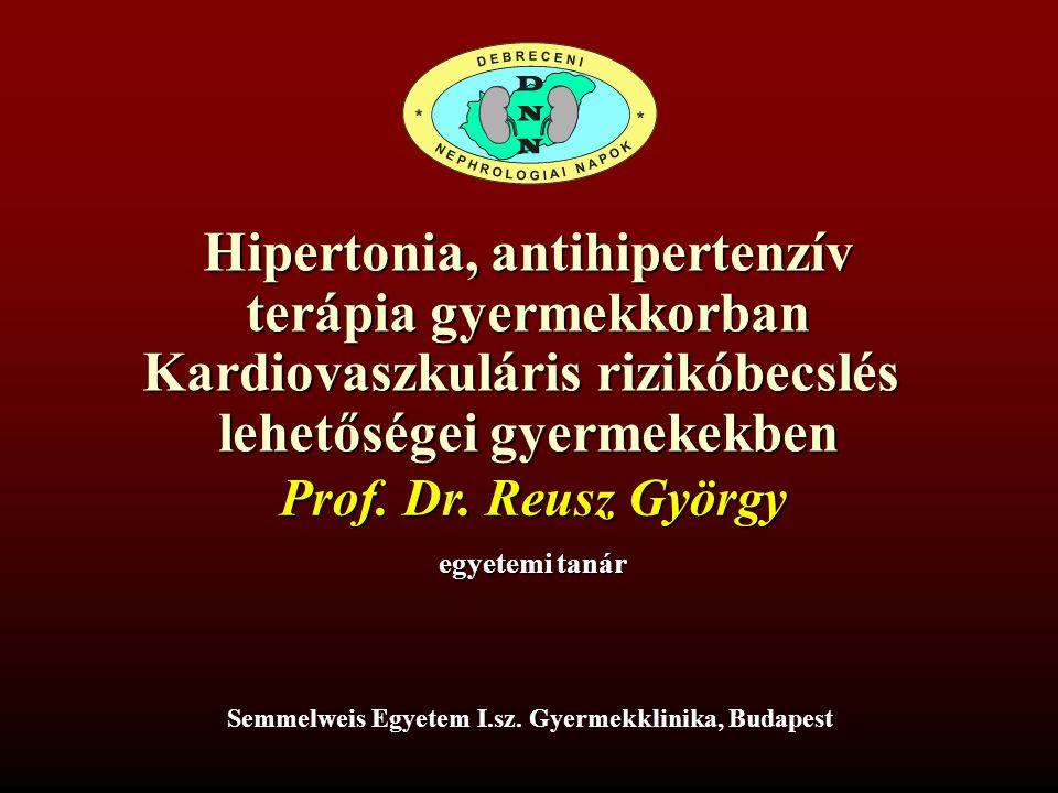 Hipertonia, antihipertenzív terápia gyermekkorban