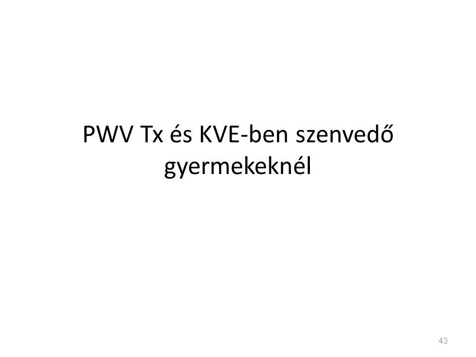 PWV Tx és KVE-ben szenvedő gyermekeknél