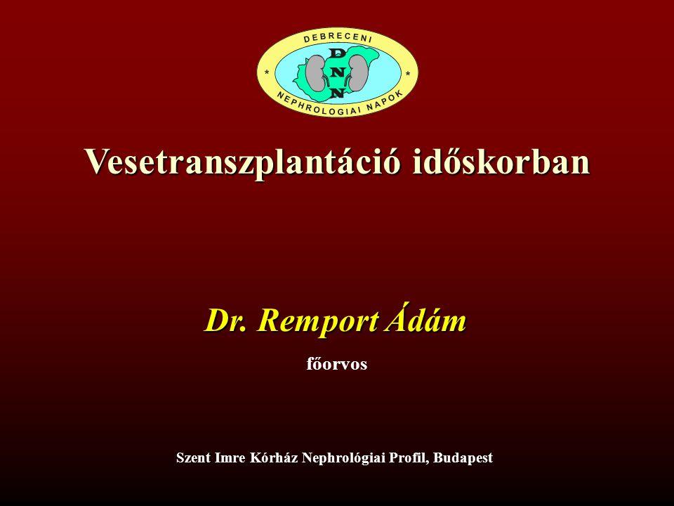 Vesetranszplantáció időskorban