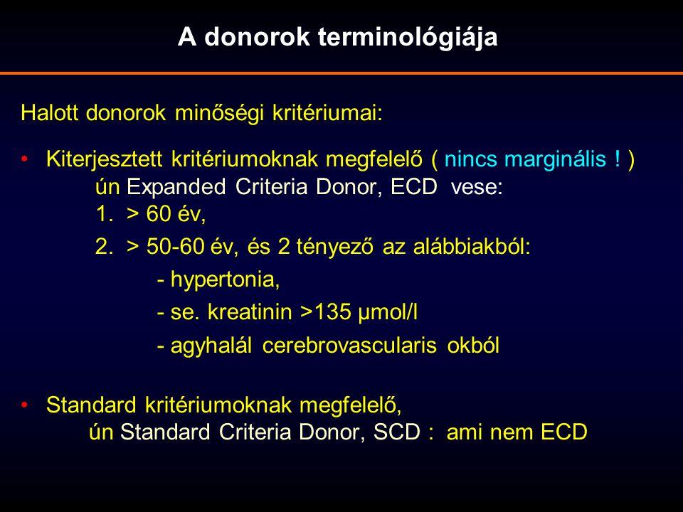 A donorok terminológiája