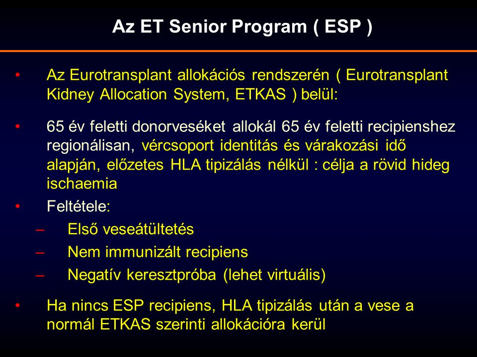 Az ET Senior Program ( ESP )