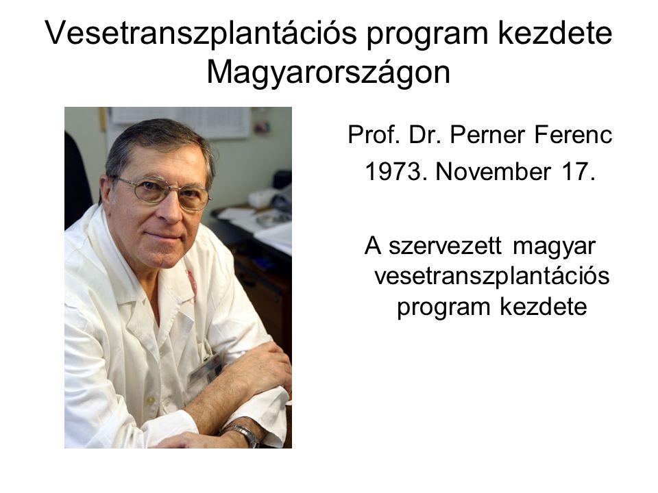 Vesetranszplantációs program kezdete Magyarországon