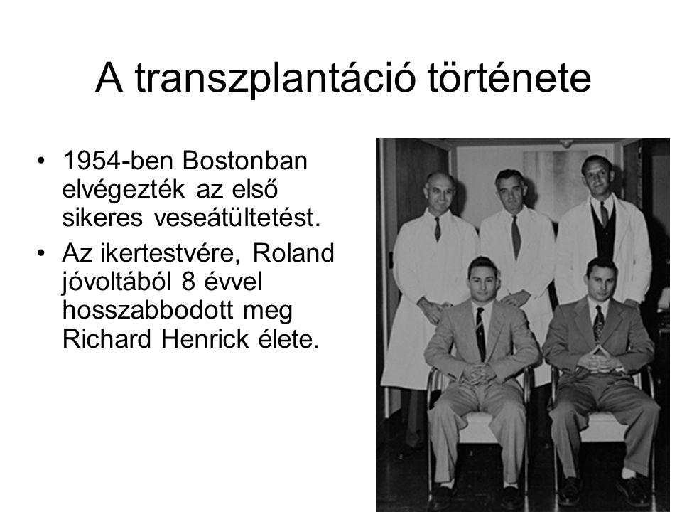 A transzplantáció története