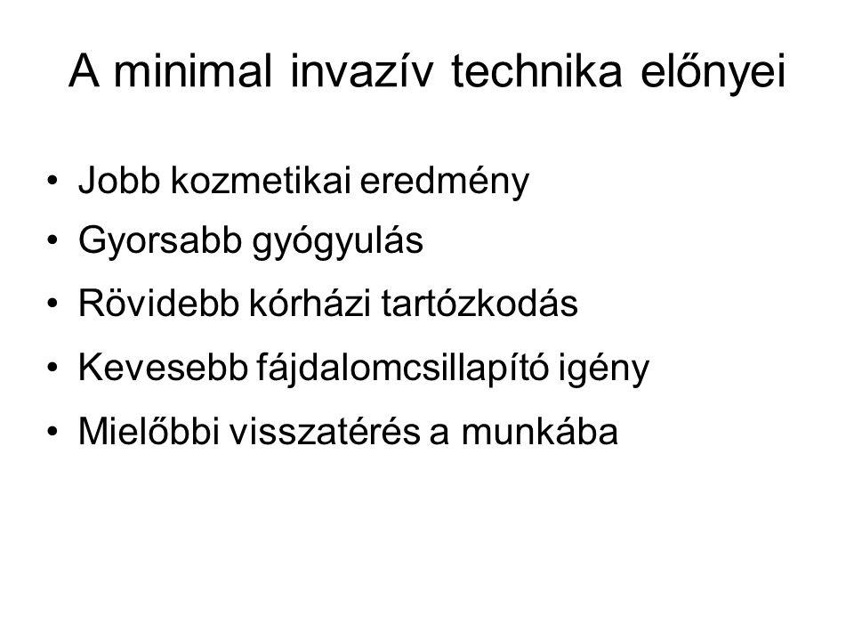 A minimal invazív technika előnyei