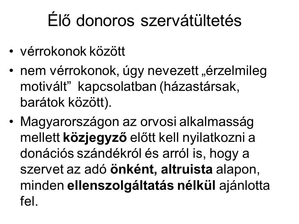 Élő donoros szervátültetés
