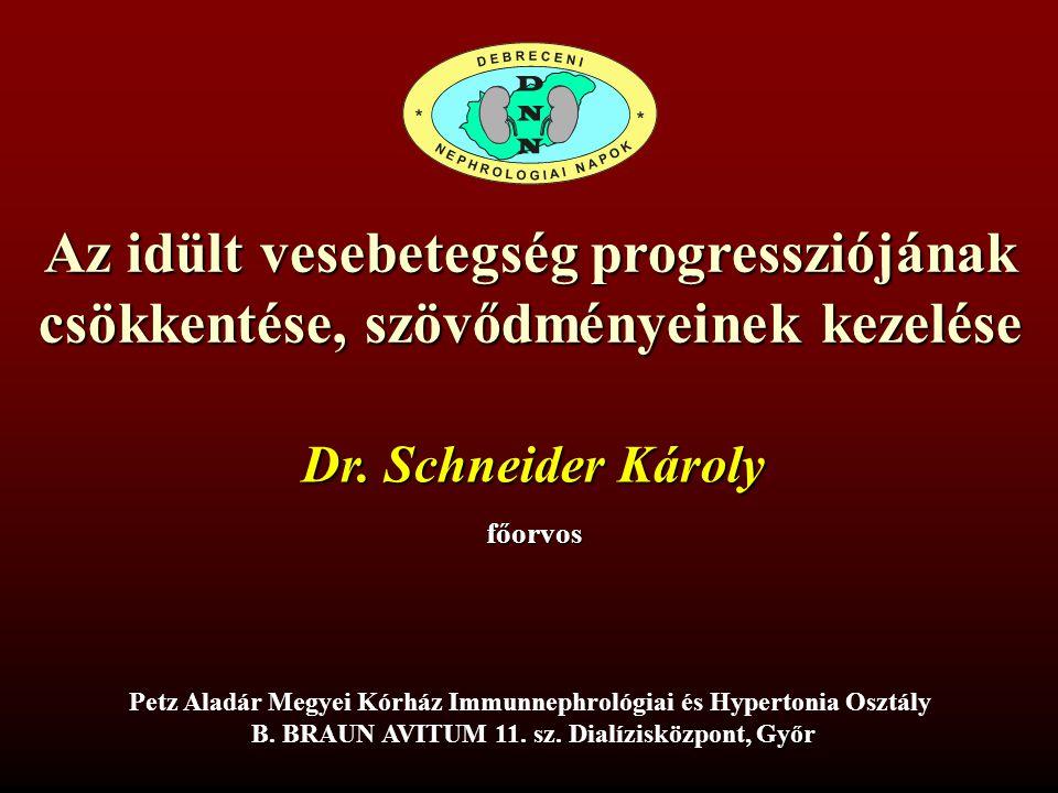 Az idült vesebetegség progressziójának