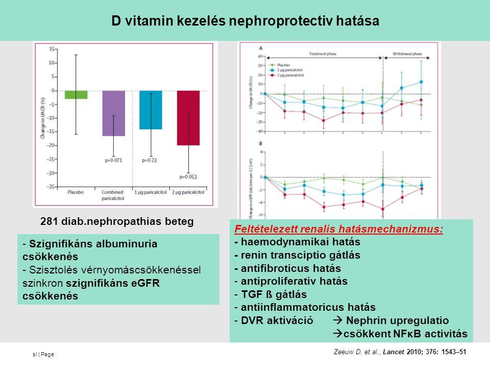 D vitamin kezelés nephroprotectiv hatása