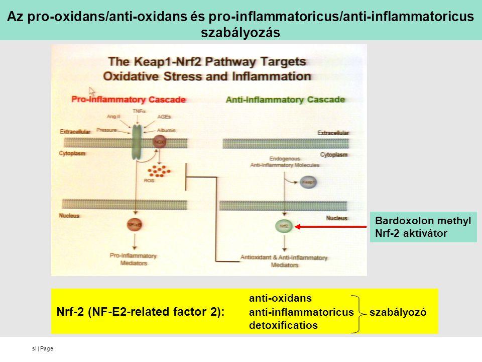Az pro-oxidans/anti-oxidans és pro-inflammatoricus/anti-inflammatoricus szabályozás