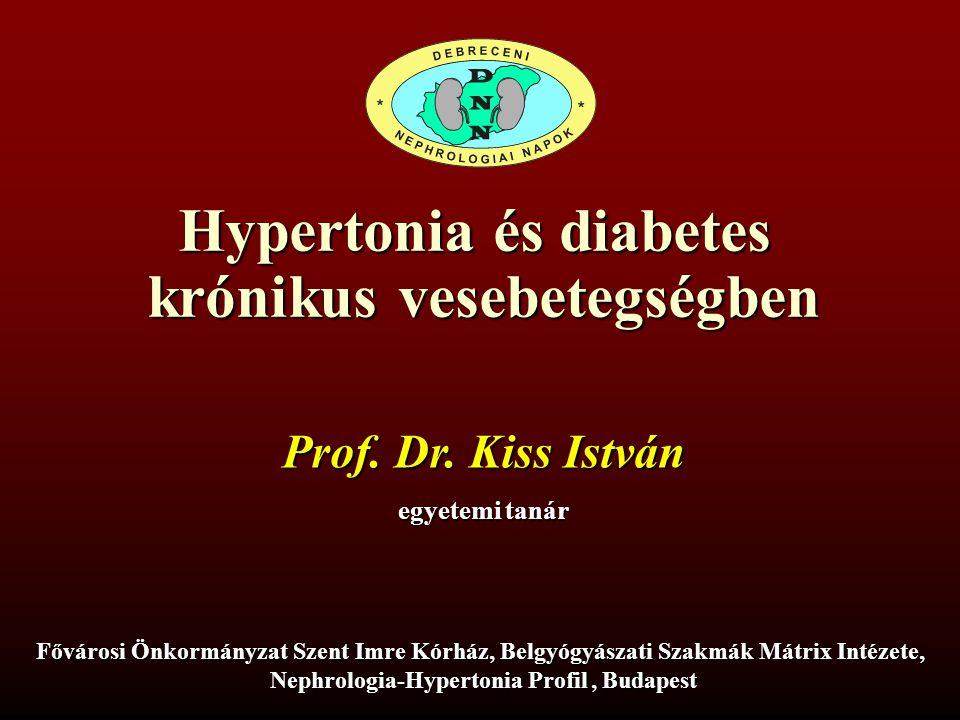 Hypertonia és diabetes krónikus vesebetegségben