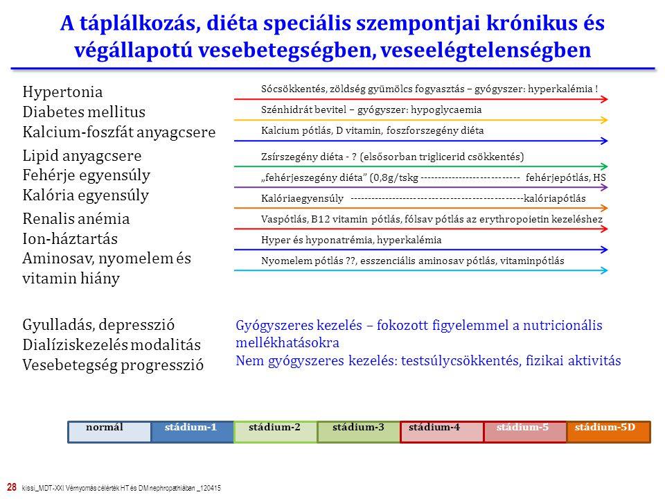 A táplálkozás, diéta speciális szempontjai krónikus és végállapotú vesebetegségben, veseelégtelenségben