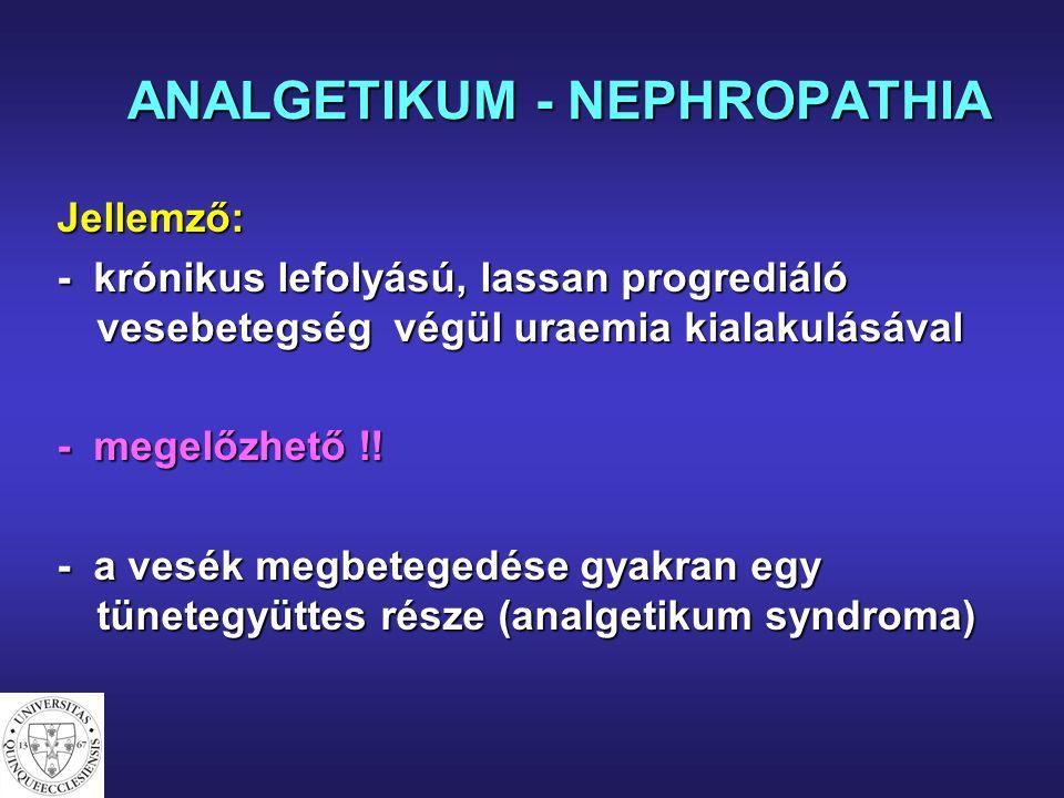 ANALGETIKUM - NEPHROPATHIA