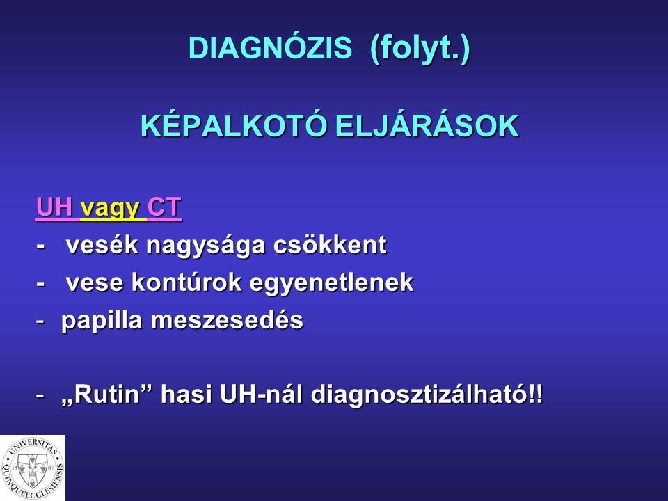 DIAGNÓZIS (folyt.) KÉPALKOTÓ ELJÁRÁSOK