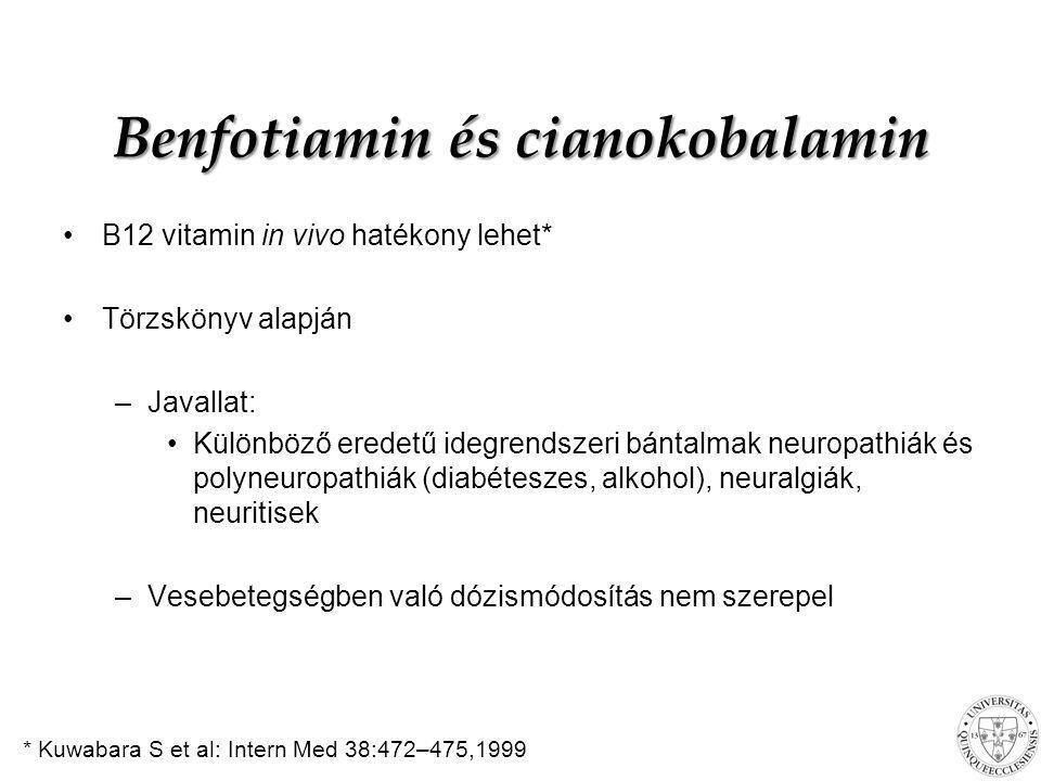 Benfotiamin és cianokobalamin