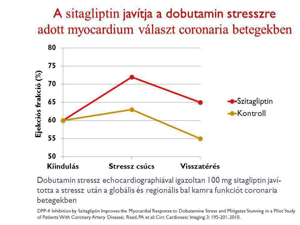 A sitagliptin javítja a dobutamin stresszre adott myocardium választ coronaria betegekben