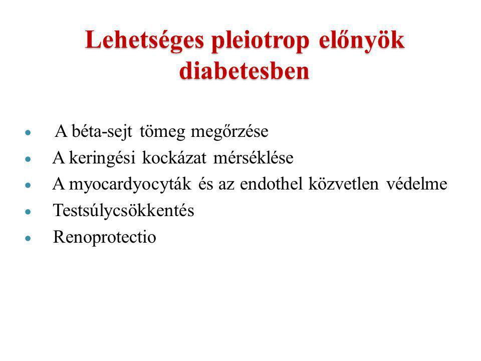Lehetséges pleiotrop előnyök diabetesben