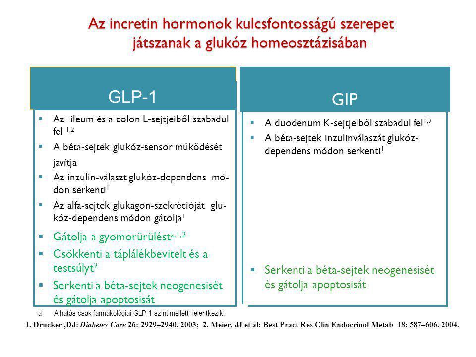 Az incretin hormonok kulcsfontosságú szerepet játszanak a glukóz homeosztázisában