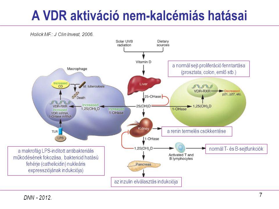 A VDR aktiváció nem-kalcémiás hatásai