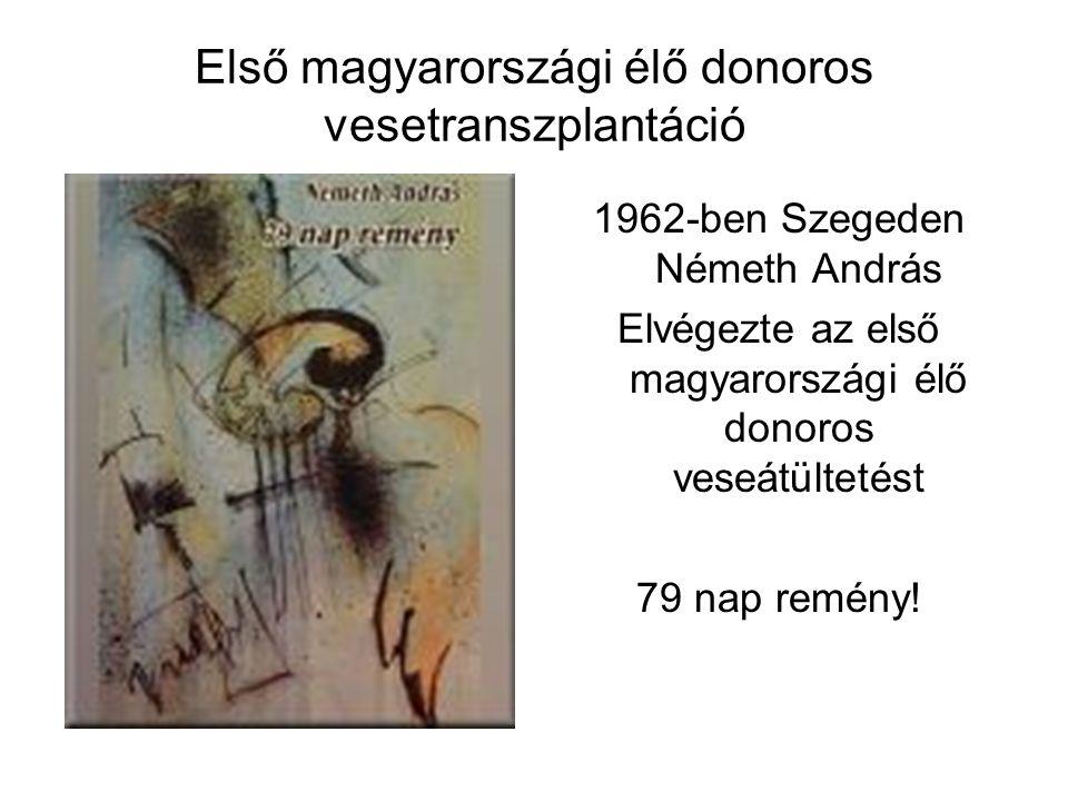 Első magyarországi élő donoros vesetranszplantáció