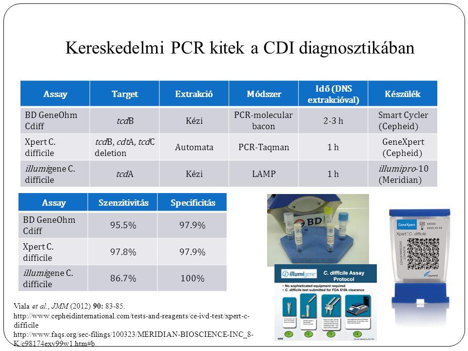 Kereskedelmi PCR kitek a CDI diagnosztikában