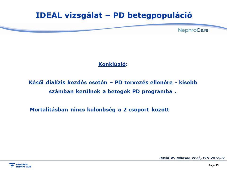 IDEAL vizsgálat – PD betegpopuláció