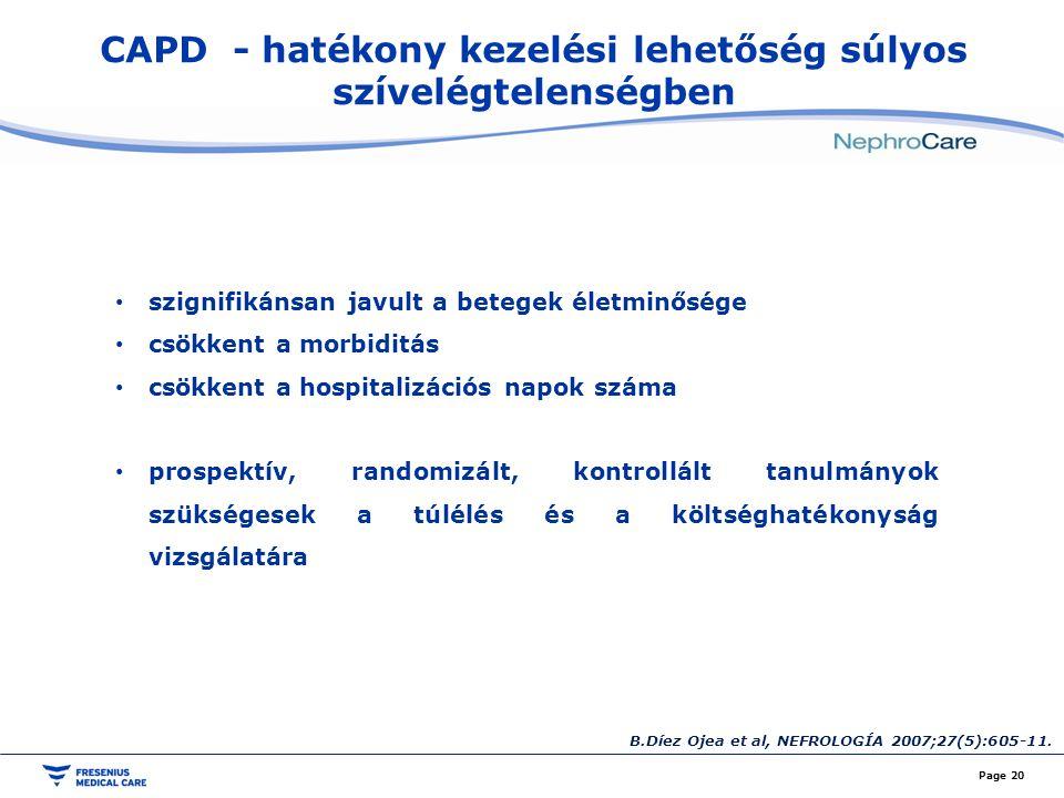 CAPD - hatékony kezelési lehetőség súlyos szívelégtelenségben
