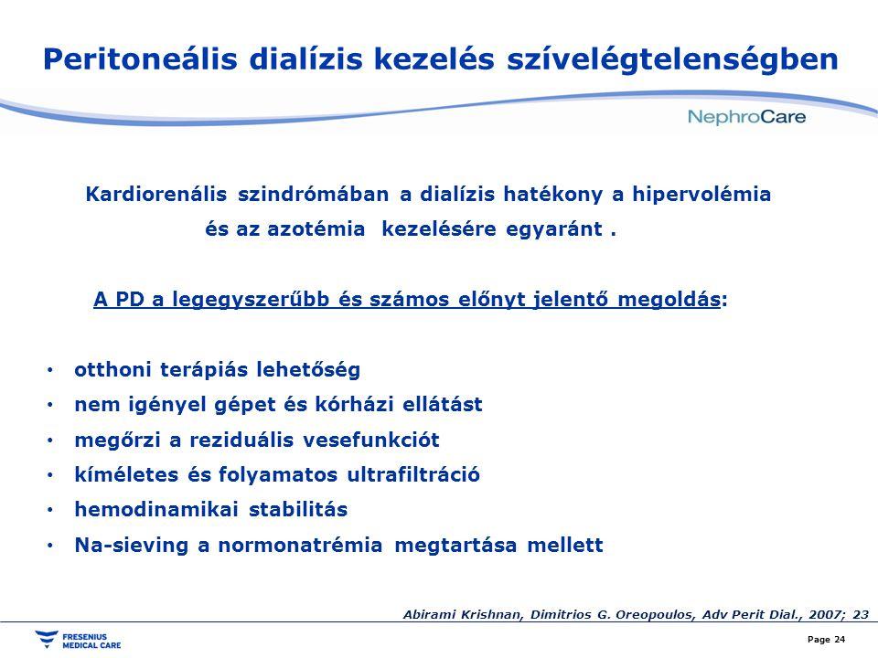 Peritoneális dialízis kezelés szívelégtelenségben