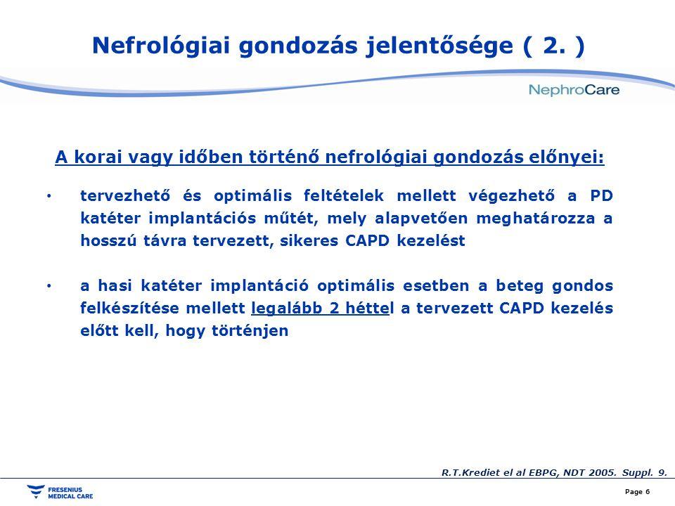 Nefrológiai gondozás jelentősége ( 2. )