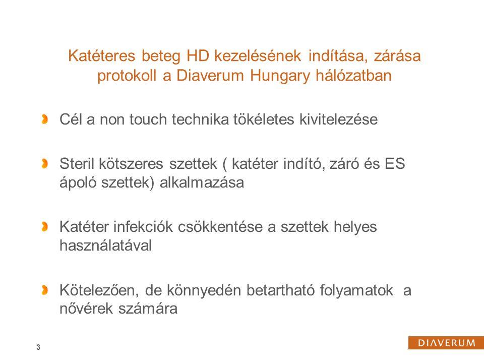 2017.04.04. Katéteres beteg HD kezelésének indítása, zárása protokoll a Diaverum Hungary hálózatban.